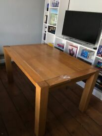 Solid Oak Dining Table (Seats 4 - 6)