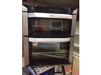REDUCED - BELLING BI70F Electric Built-under Double Oven - Stainless Steel