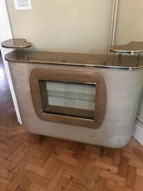 Vintage 60's Drinks bar and matching wall cabinet