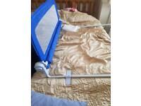 Blue bed guard