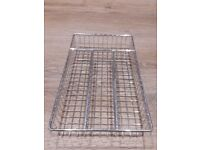 Wire cutlery tray to suit narrow drawer