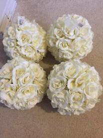 4x Wedding Flowers Balls