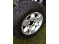 4x4 alloy wheel and tyres