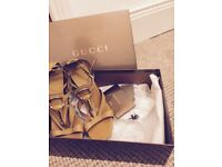 GUCCI - £80 designer Italian leather high heeled sandal/shoe