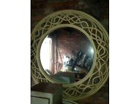 Round large wooden mirror from DFS
