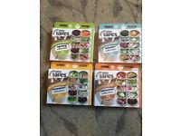 4 packs of sutton vegetable seed tapes