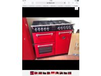 STOVES RICHMOND MULTI FUEL RANGE COOKER RED
