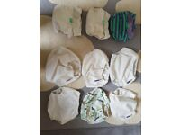 Bundle of 21 Cloth Nappies - very good condition - £160