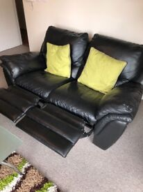 Recliner Sofa Black