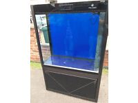 Cleair Pacific 315 Tank & Cab Black marine tropical fish tank aquarium room divider (delivery)
