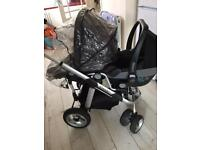 iCandy Pram (Apple and Pair) Full System c/w rain cover