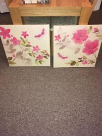 Next floral canvases