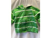 Green and White Stripey Hoodie