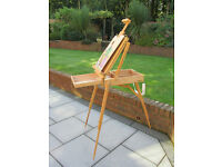 artists easel and box