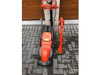 Flymo electric lawnmower&mini strimmer