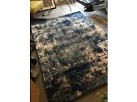 Large rug - blue, grey and cream (new)