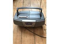 Stereo cassette cd radio player