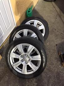 "Audi / VW alloys 17"" Genuine (very good tyres will fit many models)"