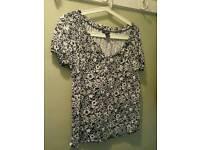 Tk Maxx short sleeve top New no tags size L (like 14)