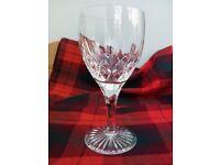 Stuart cut crystal wine/water goblets