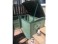 Plastic garden cupboard