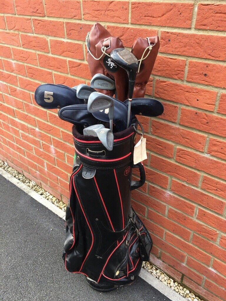 Mixed bag of golf clubs