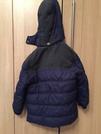 iDO Navy winter jacket with hood 36 months+