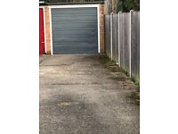 A freehold lock up single garage in a residential street.