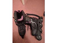 Women's / girls rollerblades - size 6.5 but fits about a 4.5 shoe - REDUCED
