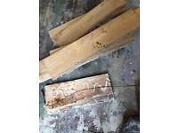 Solid oak floor for fire wood, removed (flood damage)