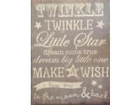 Mamas & Papas Twinkle Canvas Millie and Boris