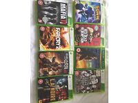XBOX 360. 8 games. Great condition.