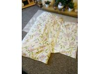 Free to collect Double quilted bedspread and matching curtains.