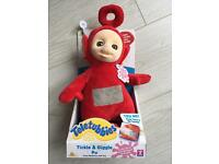 BRAND NEW TELETUBBIES TICKLE & GIGGLE PO TOUCH REACTIVE SOFT TOY