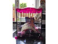 Little Mermaid pink fish tank.