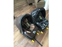 Mamas and Papas Prima Viaggio Travel System with two car seats and isofix