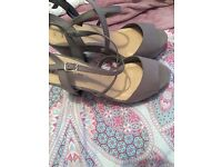 Stunning grey new look platform heels new with tags size 8