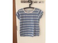 Blue And White Striped Atmosphere Tshirt Size 6