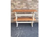 BENCHES BENCH PAIR SOLID PINE FARM HOUSE COUNTRY STYLE RUSTIC PAINTED BASE