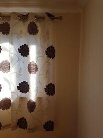 ring top curtains 2 pair £10 each