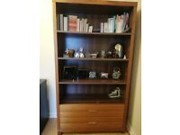 Oak Wood Bookcase with Drawers for Sale