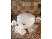 Tommee Tippee microwave steriliser with extras