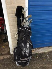 MacGregor golf clubs 3-SW, mizuno bag with Dunlop driver
