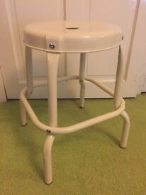 Ikea Raskog cream metal stool