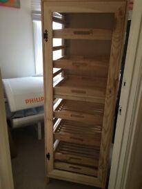Traditional 10 drawer wooden fruit veg wine storage unit rrp £114