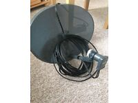 New sky dish with LNB