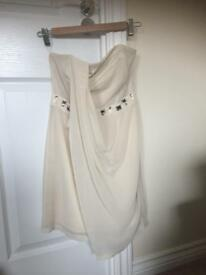 Cream lipsy dress size 8