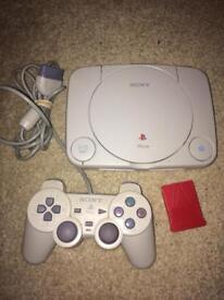 Slim Sony Ps1 console setup