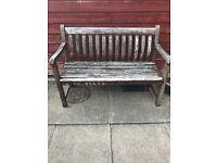 Preused wooden bench