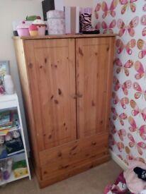 Children's wooden wardrobe